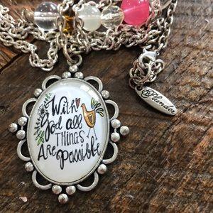 COPY - Plunder long change inspirational necklace